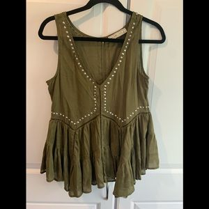 Abercrombie & Fitch tunic loose  top khaki green